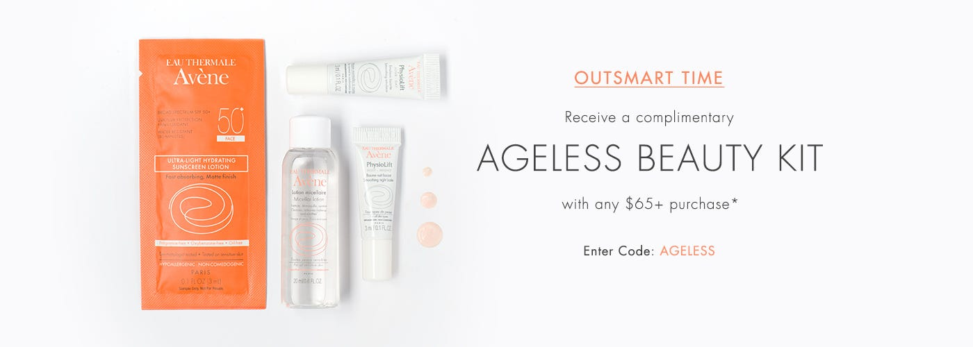 Receive a free 4- piece bonus gift with your $65 Avène purchase