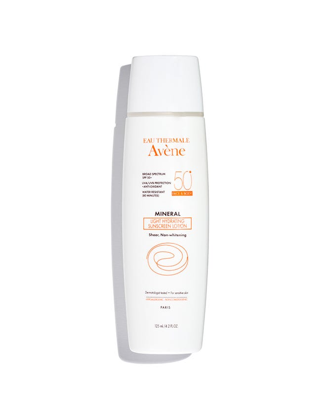 C57296 avene mineral light hydrating sunscreen lotion spf 50 face and body 125ml 01 shadow