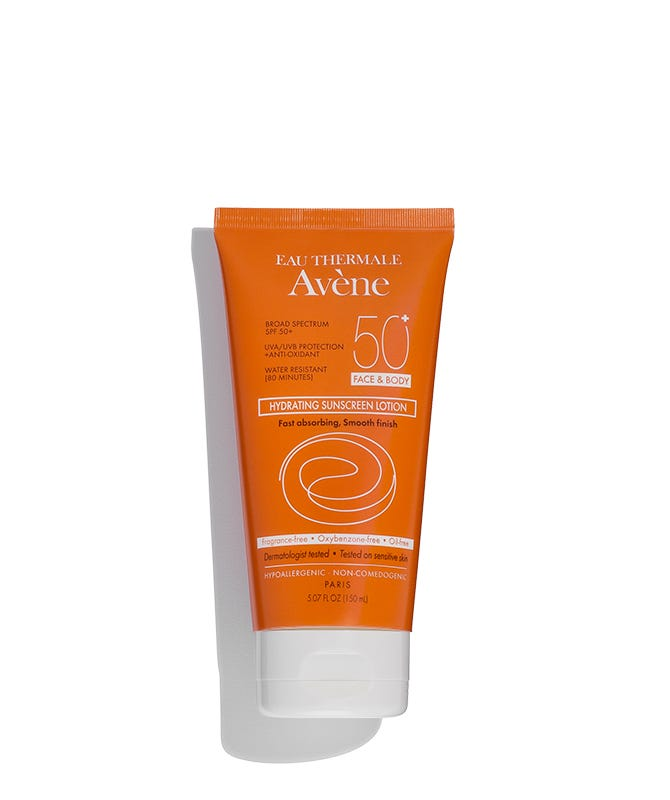 C57301 avene hydrating suncreen lotion spf 50 face and body 150ml 01 shadow