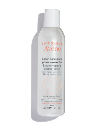 Extremely Gentle Cleanser Lotion, cleans oils and impurities for sensitive skin.