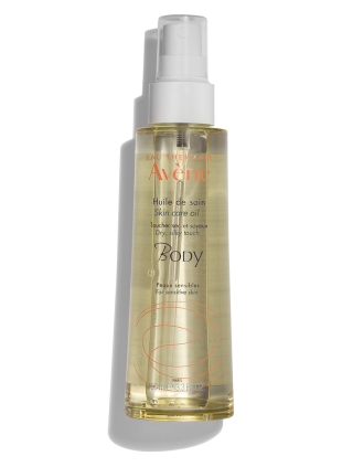 Skin Care Oil, non-greasy formula absorbs into the skin. For sensitive skin.
