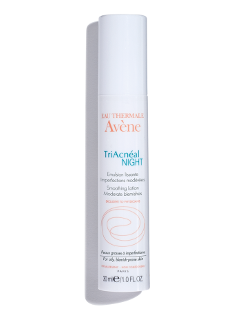 Triacneal Night Smoothing Lotion, a nighttime treatment for blemish-prone skin.