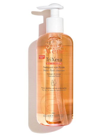TriXera Nutrition Nutri-Fluid Cleansing Gel, soap-free formula cleanses & nourishes sensitive skin. For dry & very dry skin.