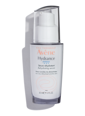 Hydrance Intense Rehydrating Serum, lightweight serum with 24-hour hydration for sensitive skin.