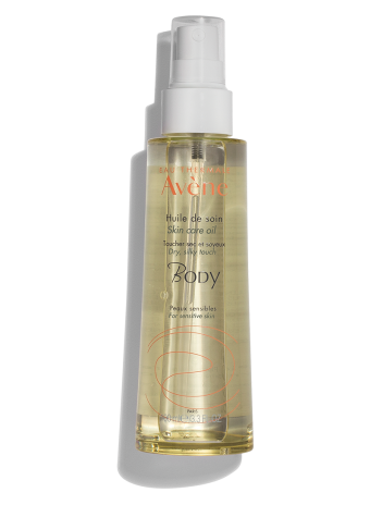 Skin Care Oil, non-greasy formula absorbs into the skin. For sensitive skin.