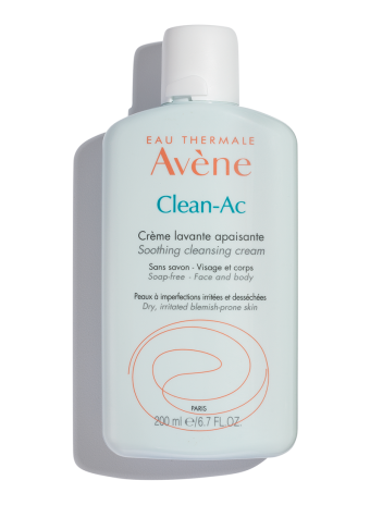 Clean-Ac Soothing Cleansing Cream, deep clean pores and remove impurities with this gentle cream wash for sensitive skin.
