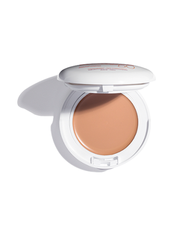 Mineral Tinted Compact with SPF 50 UVA/UVB Protection. Cream-to-powder sunscreen with antioxidants. For sensitive skin.