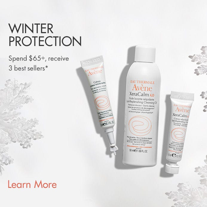 Receive a free 3-piece bonus gift with your $65 Avène purchase